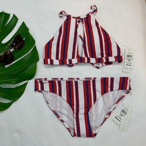 NWT B. Swim Halter Bikini Top Full Bottom American